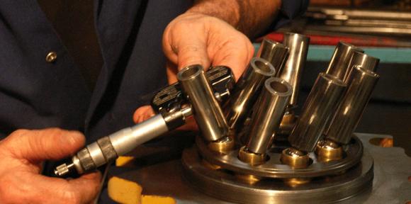 Réparation de moteur hydraulique