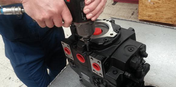 Réparation de pompe hydraulique